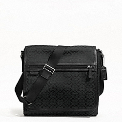 SIGNATURE JACQUARD MAP BAG - GUNMETAL/BLACK/BLACK - COACH F70699