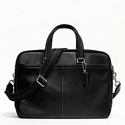 COACH LEXINGTON LEATHER COMMUTER - SILVER/BLACK - F70707