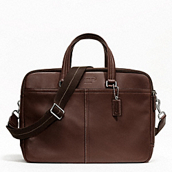 COACH LEXINGTON LEATHER COMMUTER - SILVER/MAHOGANY - F70707