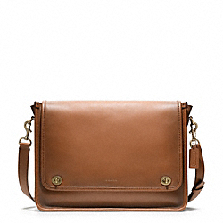COACH BLEECKER FIELD BAG - BRASS/STAG BROWN - F70711
