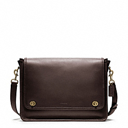 COACH BLEECKER FIELD BAG - BRASS/MAHOGANY - F70711