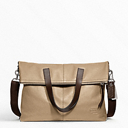 THOMPSON LEATHER PERFORATED FOLDOVER TOTE COACH F70718