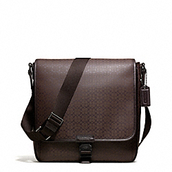 COACH HERITAGE SIGNATURE MAP BAG - GUNMETAL/MAHOGANY - F70765
