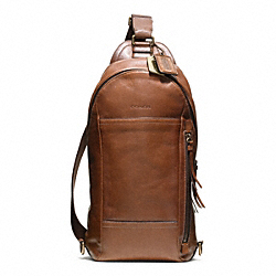 COACH BLEECKER LEATHER CONVERTIBLE SLING PACK - ONE COLOR - F70779