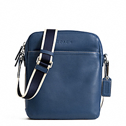 HERITAGE WEB LEATHER FLIGHT BAG - SILVER/MARINE - COACH F70813