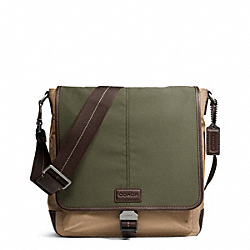 COACH VARICK NYLON COLORBLOCK MAP BAG - Gunmetal/FATIGUE/KHAKI - F70833