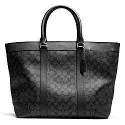 COACH BLEECKER SIGNATURE WEEKEND TOTE - GMBFS - F70853