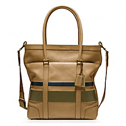 COACH BLEECKER DEBOSSED PAINTED STRIPE TOTE - ONE COLOR - F70856
