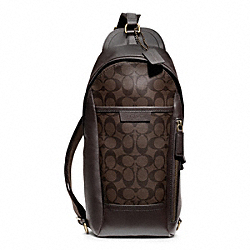 COACH BLEECKER SIGNATURE CONVERTIBLE SLING PACK - ONE COLOR - F70858