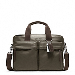 COACH THOMPSON LEATHER  SLIM COMMUTER - ONE COLOR - F70859