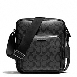 COACH BLEECKER SIGNATURE FLIGHT BAG - GMBFS - F70864