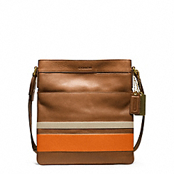 BLEECKER DEBOSSED PAINTED STRIPE SCOUT BAG COACH F70876