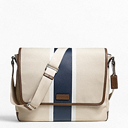 HERITAGE WEB CANVAS PRINTED STRIPE MESSENGER COACH F70886