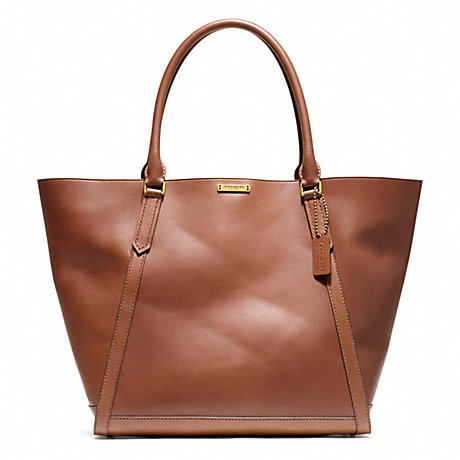 COACH BLEECKER FULTON TOTE IN LEATHER -  BRASS/FARGO BROWN - f70895