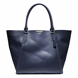 COACH BLEECKER LEATHER FULTON TOTE - BRASS/INDIGO - F70895