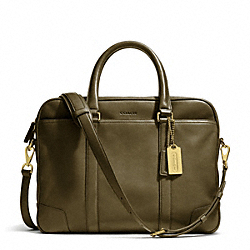 COACH BLEECKER LEATHER SLIM BRIEF - BRASS/DARK OLIGHT GOLDVE - F70901