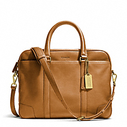 COACH BLEECKER LEATHER SLIM BRIEF - ONE COLOR - F70901