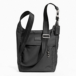 COACH VARICK NYLON TECH CROSSBODY - GUNMETAL/BLACK - F70913