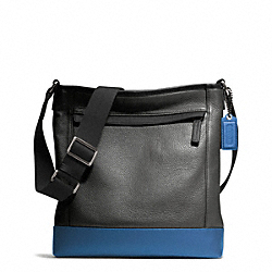 CAMDEN LEATHER TECH CROSSBODY - f70920 - GUNMETAL/CHARCOAL/MARINE