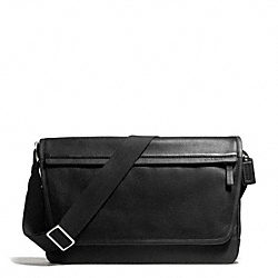 COACH CAMDEN LEATHER MESSENGER - GUNMETAL/BLACK/BLACK - F70924