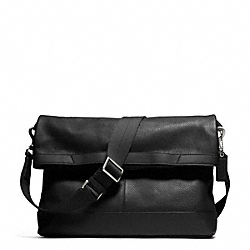 COACH CAMDEN LEATHER FOLDOVER TOTE - GUNMETAL/BLACK/BLACK - F70928