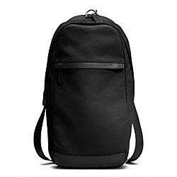 COACH CAMDEN CANVAS UTILITY PACK - GUNMETAL/BLACK - F70930