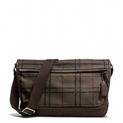 COACH CAMDEN CANVAS TATTERSALL MESSENGER - ONE COLOR - F70933