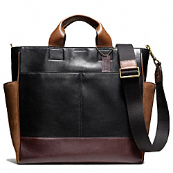 COACH BLEECKER LEATHER AND SUEDE UTILITY TOTE - ONE COLOR - F70948