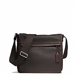 COACH CAMDEN LEATHER MAP BAG - GUNMETAL/MAH/DARK MAHOGANY - F70973