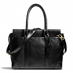 COACH CROSBY BUSINESS TOTE IN BOX GRAIN LEATHER - ONE COLOR - F70980
