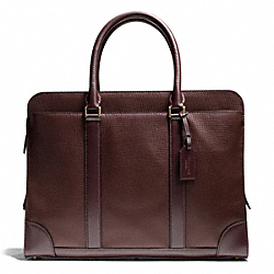 CROSBY SLIM BRIEF IN BOX GRAIN LEATHER COACH F71013