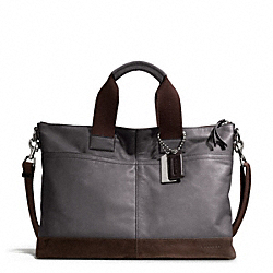 THOMPSON COLORBLOCK LEATHER URBAN COMMUTER COACH F71018