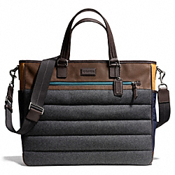 COACH VARICK NYLON MIXED MATERIAL SUPPLY BAG - ONE COLOR - F71041
