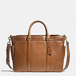 BLEECKER METROPOLITAN BAG IN LEATHER - BRASS/FAWN - COACH F71057