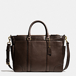 COACH BLEECKER METROPOLITAN BAG IN LEATHER - BRASS/MAHOGANY - F71057