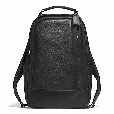 COACH CAMDEN LEATHER BACKPACK - GUNMETAL/BLACK/BLACK - f71060