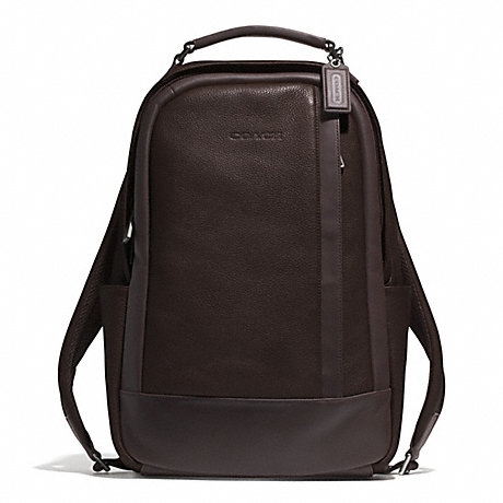 COACH CAMDEN LEATHER BACKPACK - GUNMETAL/MAHOGANY/DARK MAHOGANY - f71060