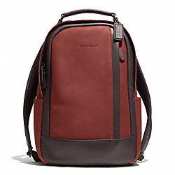 COACH CAMDEN LEATHER BACKPACK - GM/RUST/DARK BROWN - F71060
