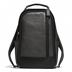 COACH CAMDEN LEATHER BACKPACK - GUNMETAL/SLATE/BLACK - F71060