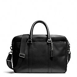 COACH LEXINGTON LEATHER COMMUTER - SILVER/BLACK - F71065