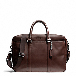 COACH LEXINGTON LEATHER COMMUTER - SILVER/MAHOGANY - F71065