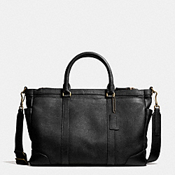 COACH BLEECKER METROPOLITAN BAG IN PEBBLE LEATHER - BRASS/BLACK - F71067