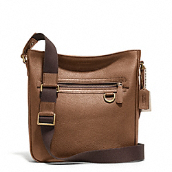 BLEECKER PEBBLED LEATHER FIELD BAG COACH F71094