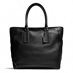 COACH BLEECKER LEATHER TRAVELER TOTE - ONE COLOR - F71098