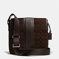 HERITAGE SIGNATURE MAP BAG - MAHOGANY/BROWN - COACH F71102