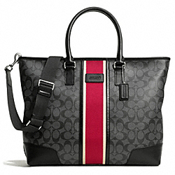 COACH COACH HERITAGE STRIPE UTILITY TOTE - ONE COLOR - F71133