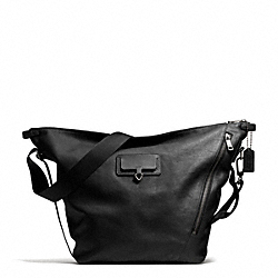 THOMPSON TRANSIT BAG IN LEATHER - ANTIQUE NICKEL/BLACK - COACH F71163