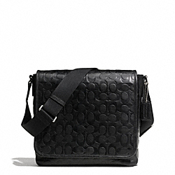 HERITAGE WEB LEATHER EMBOSSED C MAP BAG - SILVER/BLACK - COACH F71172