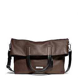 COACH THOMPSON LEATHER FOLDOVER TOTE - ONE COLOR - F71184