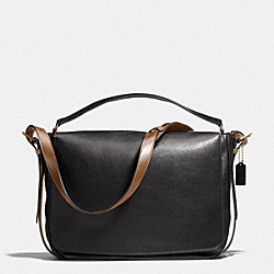 COACH MERCER POSTMAN BAG IN LEATHER - BRASS/BLACK - F71187